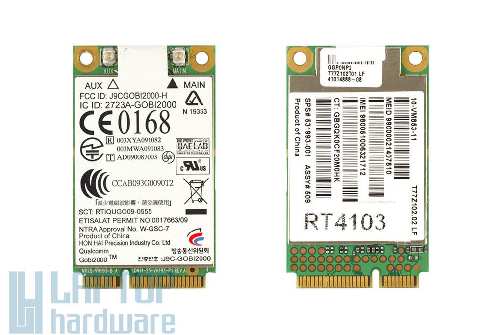 HP laptopokhoz gyári új HSDPA modem, HP un2400