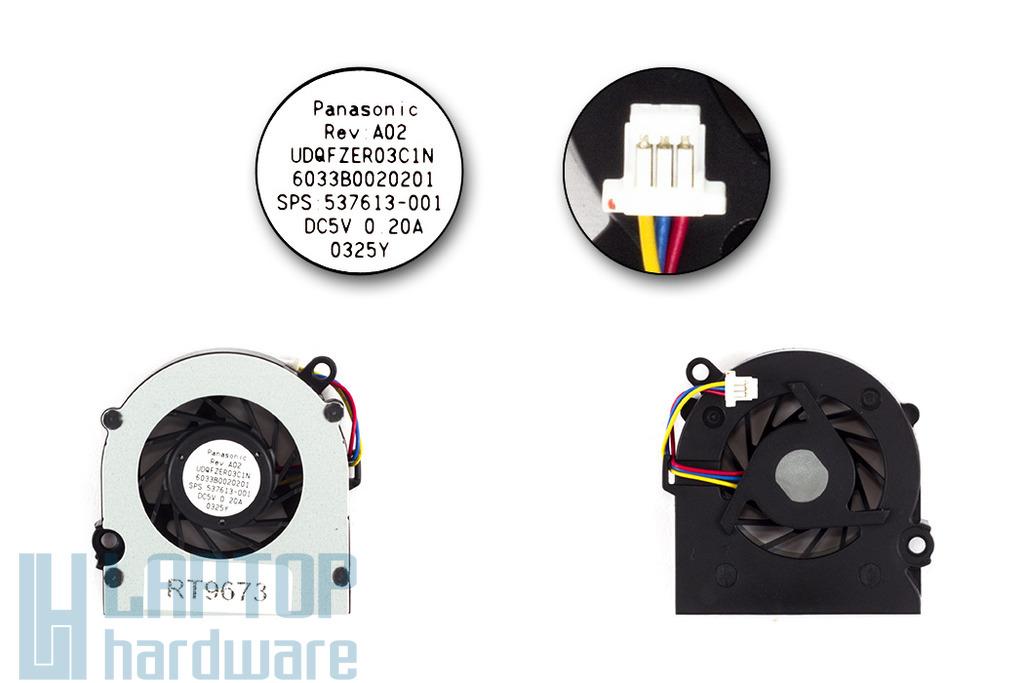 HP Mini 110, 110-1000, CQ10 gyári új laptop hűtő ventilátor (SPS 537613-001)