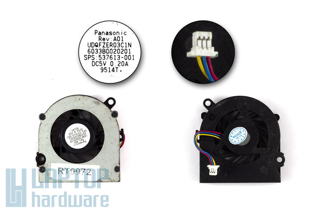 HP Mini 110, 110-1000, CQ10 használt laptop hűtő ventilátor (SPS 537613-001)