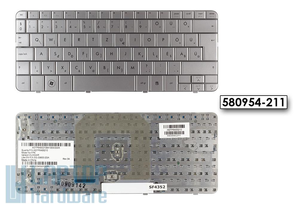 HP Mini 310, 311, DM1-1000, DM1-1100 gyári új magyar ezüst laptop billentyűzet (580954-211)
