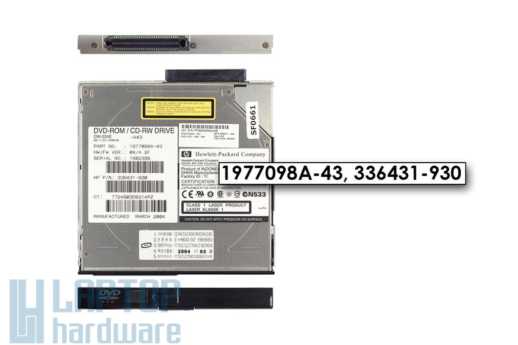 HP NC6000, NX9020 laptophoz használt Teac DW-224E IDE CD-RW, DVD-ROM combo meghajtó kerettel (33643-930)