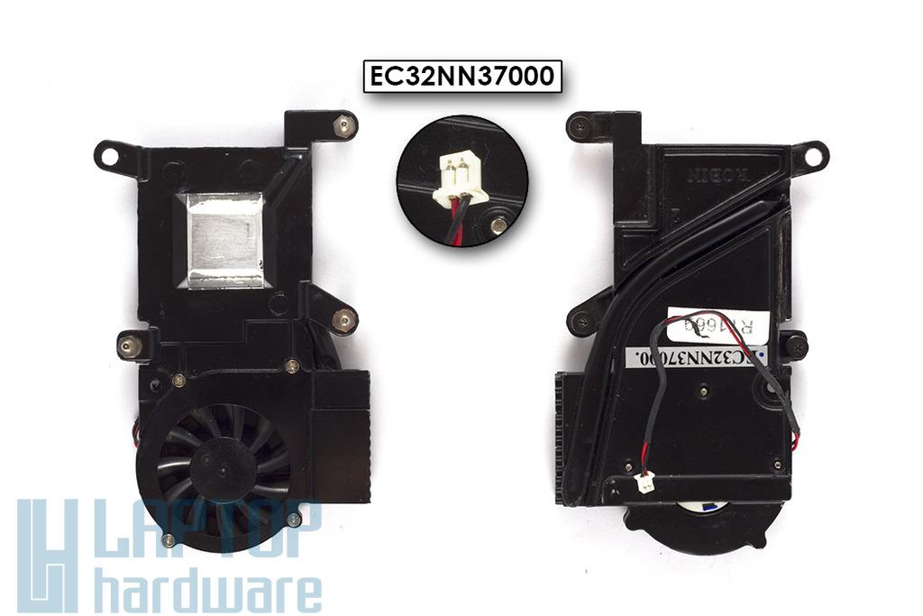 HP OmniBook XE3 használt komplett laptop hűtő ventilátor egység (EC32NN37000)