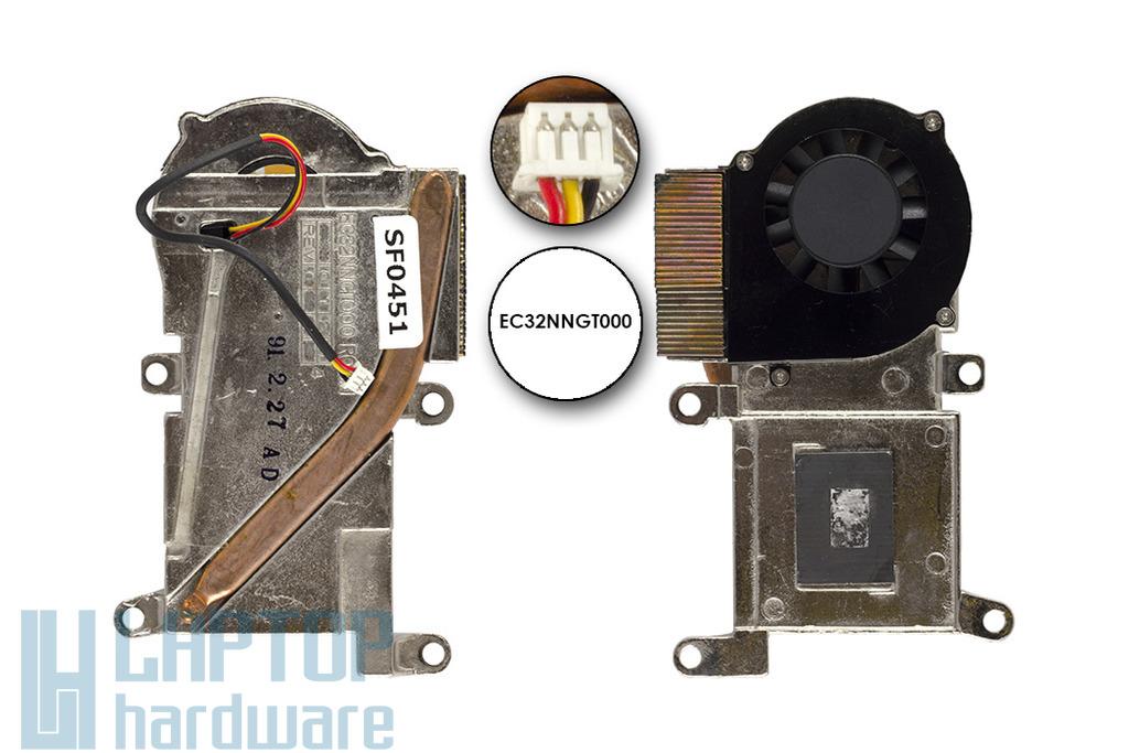 HP OmniBook XE3 használt komplett laptop hűtő ventilátor egység (EC32NNGT000)