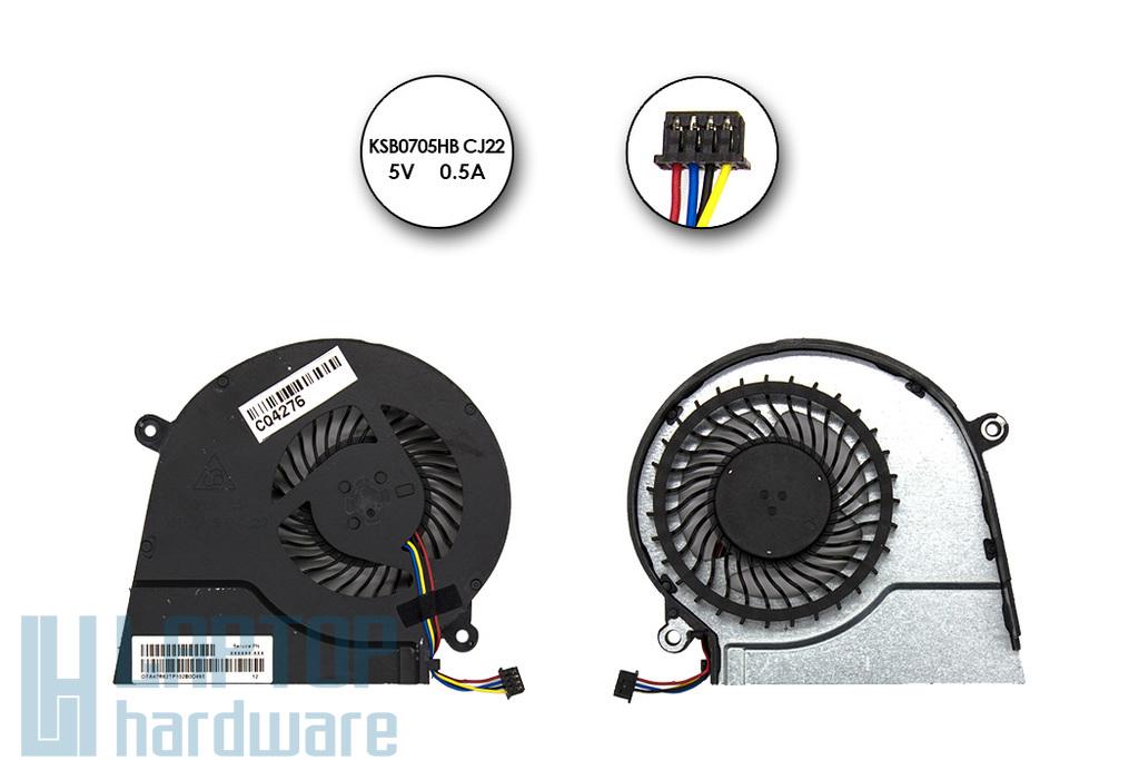 HP Pavilion 14-E, 15-E, 17-E használt laptop hűtő ventilátor (719860-001, 724870-001, KSB0705HB  CJ22)
