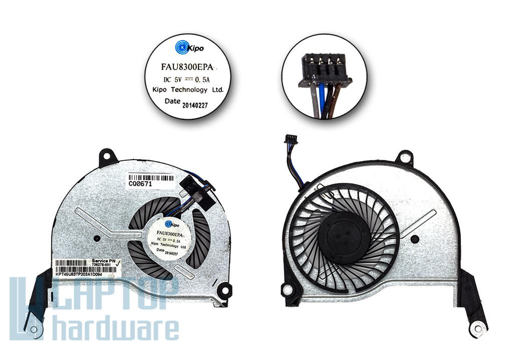 HP Pavilion 15-N gyári új laptop hűtő ventilátor (FAU8300EPA, 736278-001)