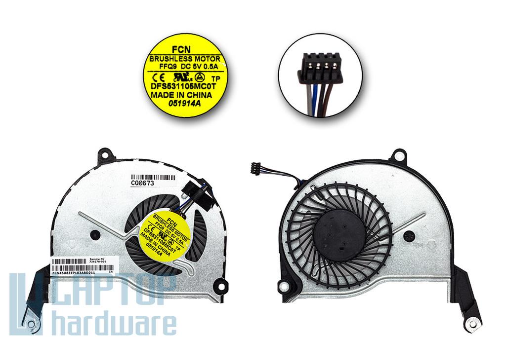 HP Pavilion 15-N gyári új laptop hűtő ventilátor (FFQ9, 736278-001, DFS531105MC0T)