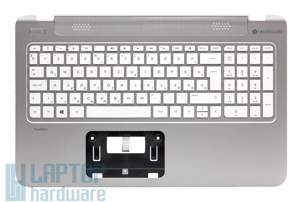 HP Pavilion 15-p0, 15-p1, 15-p2 gyári új magyar ezüst -fehér laptop billentyűzet modul (762530-211, EAY14003020)