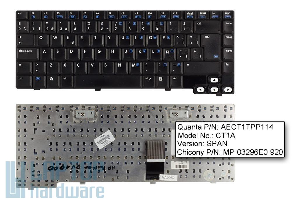 HP Pavilion DV1000 sorozat használt spanyol laptop billentyűzet (367778-071)