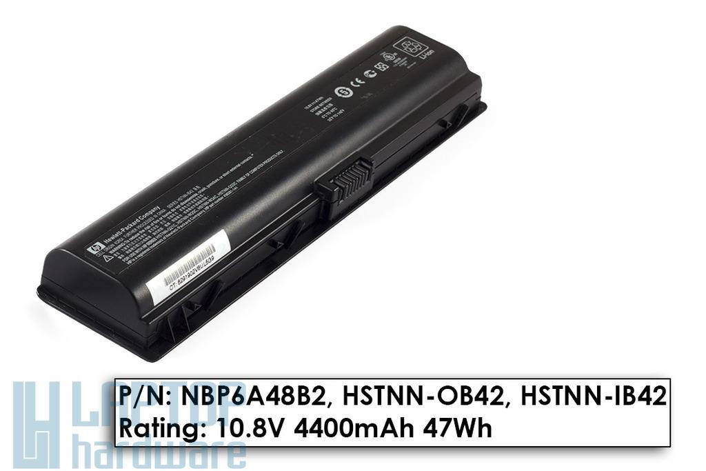 HP Pavilion dv2000, dv6000, Compaq Presario C700 használt 50%-os, 6 cellás laptop akku/akkumulátor (HSTNN-IB42)