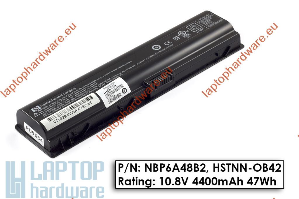 HP Pavilion dv2000, dv6000, Compaq Presario C700 használt 6 cellás 45%-os laptop akku/akkumulátor (HSTNN-OB42)