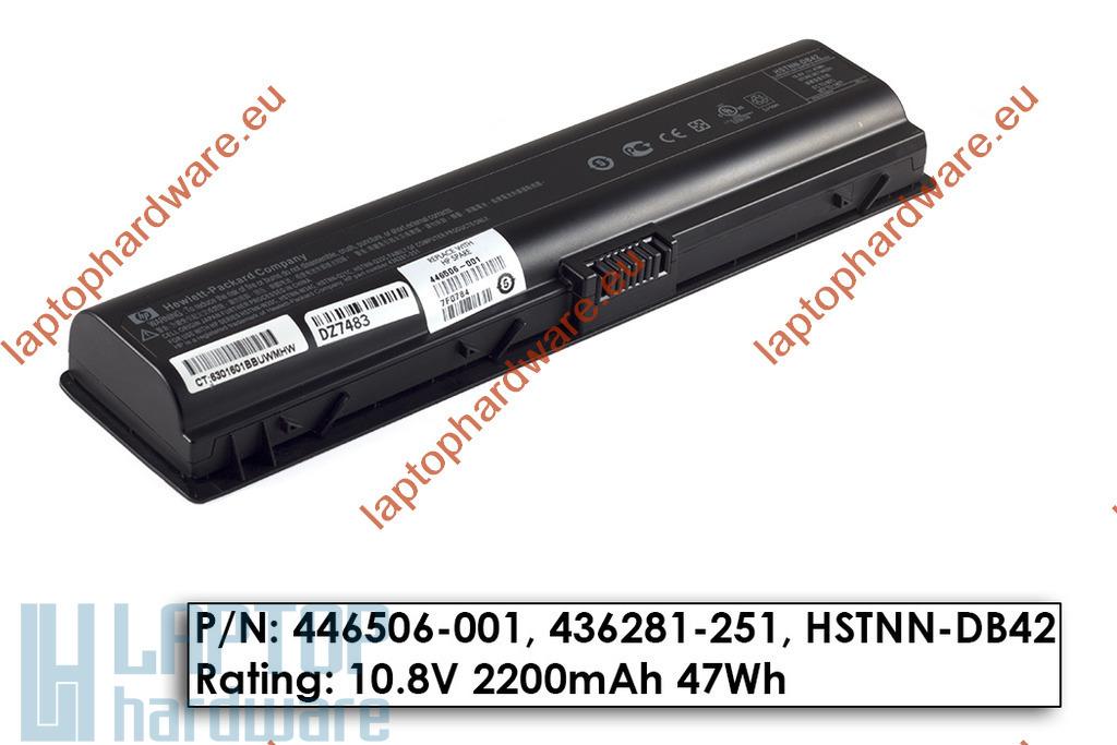 HP Pavilion dv2000, dv6000, Compaq Presario C700 használt gyári 6 cellás 80%-os laptop akku/akkumulátor (446506-001)