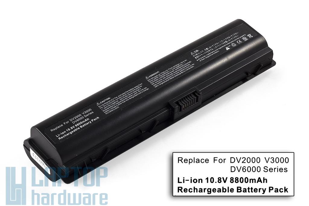HP Pavilion dv2000, dv6000 helyettesítő új 12 cellás laptop akku/akkumulátor (HSTNN-DB32)