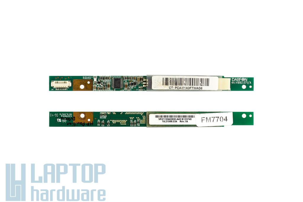 HP Pavilion DV2000 laptophoz használt LCD inverter (4H.V1892.071/A, 19.21066.033)