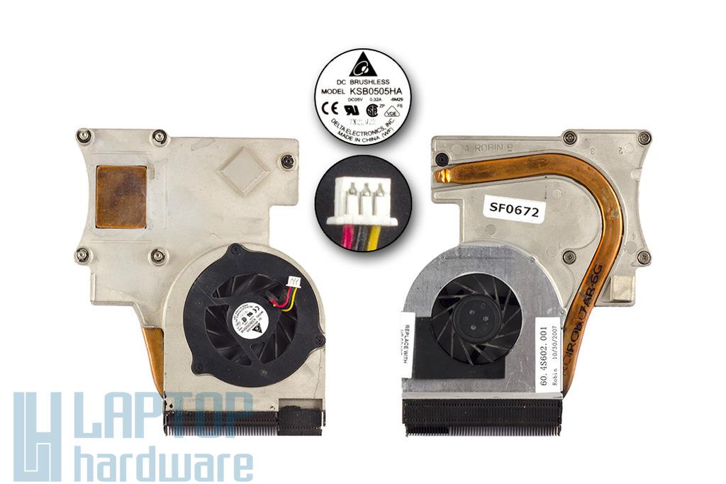 HP Pavilion DV2800, Presario V3700 használt komplett laptop hűtő ventilátor egység (455843-001)