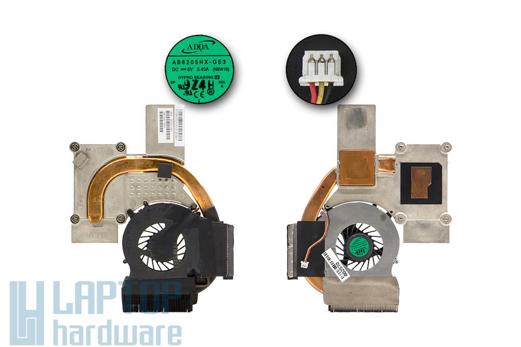 HP Pavilion DV3-2000, Compaq Presario CQ35, CQ36 laptophoz használt komplett hűtés (UMA) (591431-001)