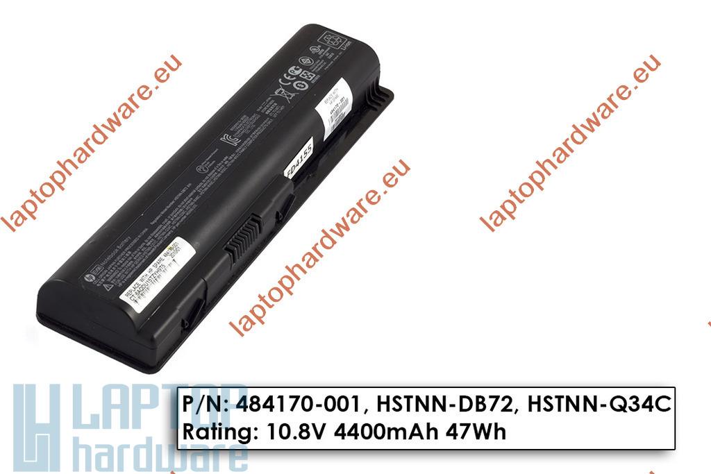 HP Pavilion DV4, DV5, DV6 használt gyári 70%-os 6 cellás laptop akku/akkumulátor  484170-001
