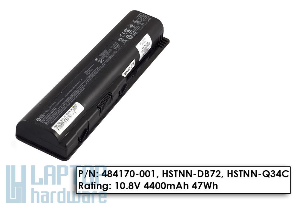 HP Pavilion DV4, DV5, DV6 használt 50%-os laptop akku/akkumulátor  HSTNN-CB72