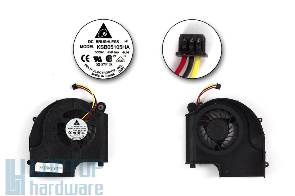 HP Pavilion DV5-2000 AMD gyári új laptop hűtő ventilátor (606889-001, KSB05105HA)