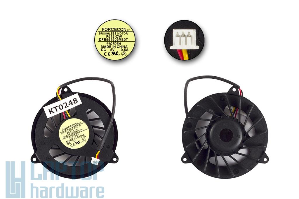 HP Pavilion dv5000, dv8000 (AMD) gyári új laptop hűtő ventilátor (DFB551505M30T)