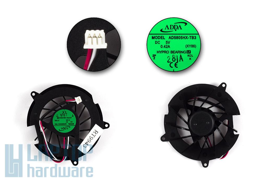 HP Pavilion dv5000, dv8000 gyári új laptop hűtő ventilátor (AD5805HX-TB3)