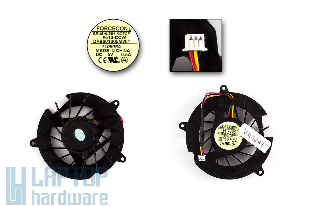 HP Pavilion dv5000, dv8000 használt laptop hűtő ventilátor (DFB601005M20T)