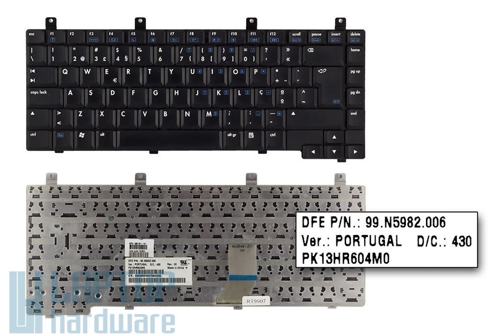 HP Pavilion DV5000, ZV5000, Presario R3000 használt portugál laptop billentyűzet (350187-131)