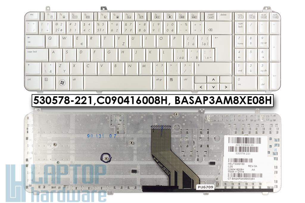 HP Pavilion DV6-1000, DV6-2000 gyári új cseh fehér laptop billentyűzet (530578-221)