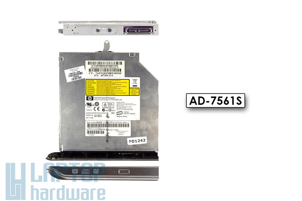 HP Pavilion DV6-1000, DV6-2000 laptophoz használt DVD író(AD-7561S,509419-001)