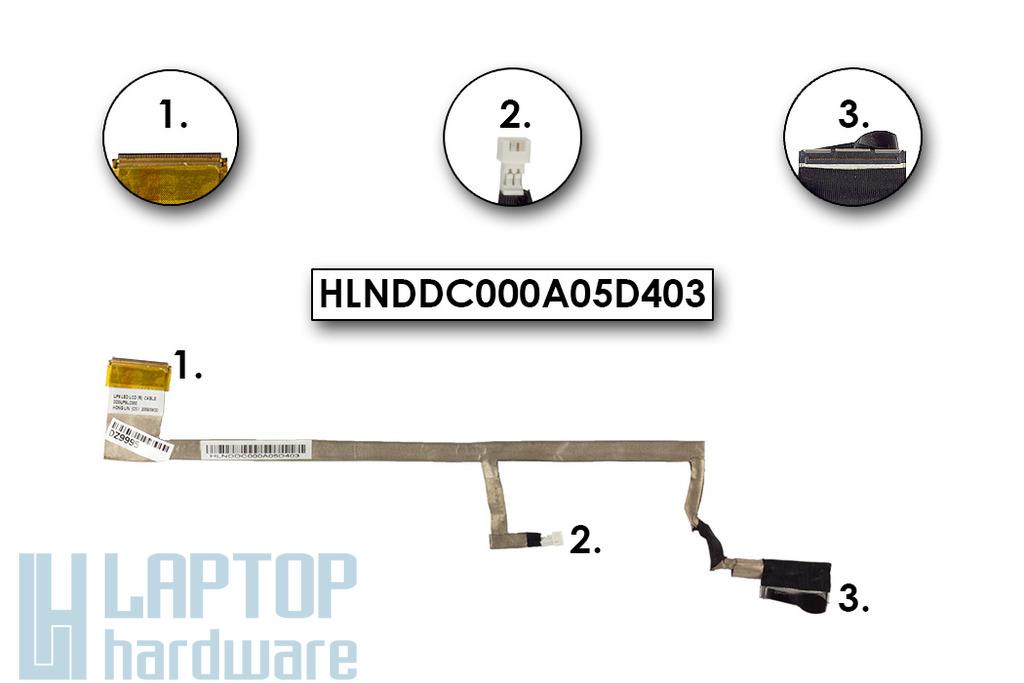 HP Pavilion DV6-1000, DV6-2000 laptophoz használt LCD kábel (HLNDDC000A05D403)