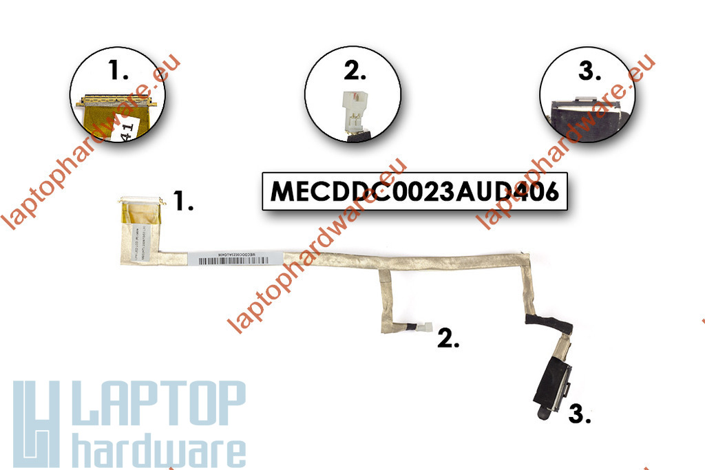HP Pavilion DV6 laptophoz használt LCD kábel (MECDDC0033AAD316) (DD0UT1LC003)