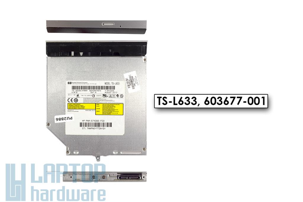 HP Pavilion DV6-3000, DV6-3100 használt SATA laptop DVD-író, TS-L633