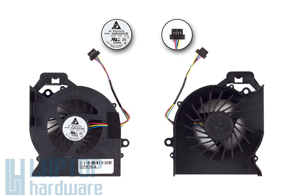 HP Pavilion DV6-6000, DV6-6100 gyári új laptop hűtő ventilátor, DELTA (653627-001)