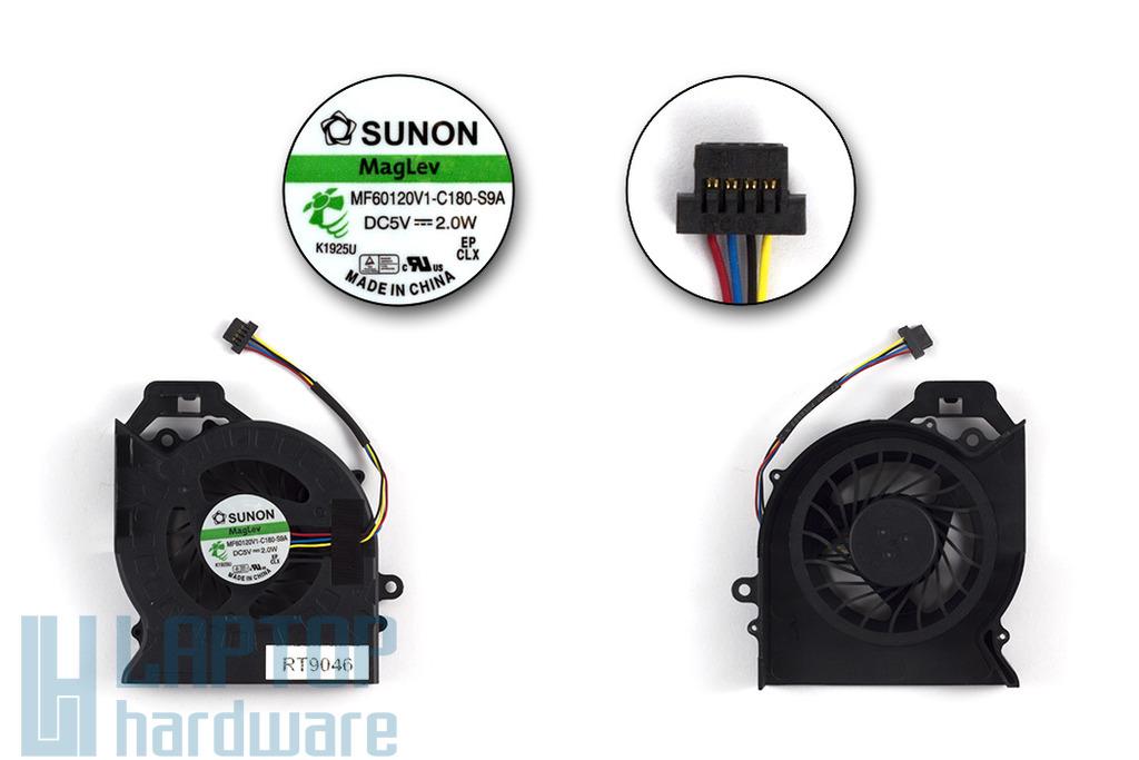 HP Pavilion DV6-6000, DV6-6100 gyári új laptop hűtő ventilátor (Sunon, 650847-001)