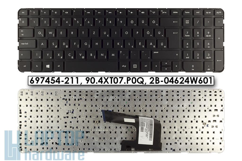 HP Pavilion dv6-7000, dv6-7100, dv6-7300 gyári új magyar fényes fekete laptop billentyűzet, keret nélkül (697454-211)
