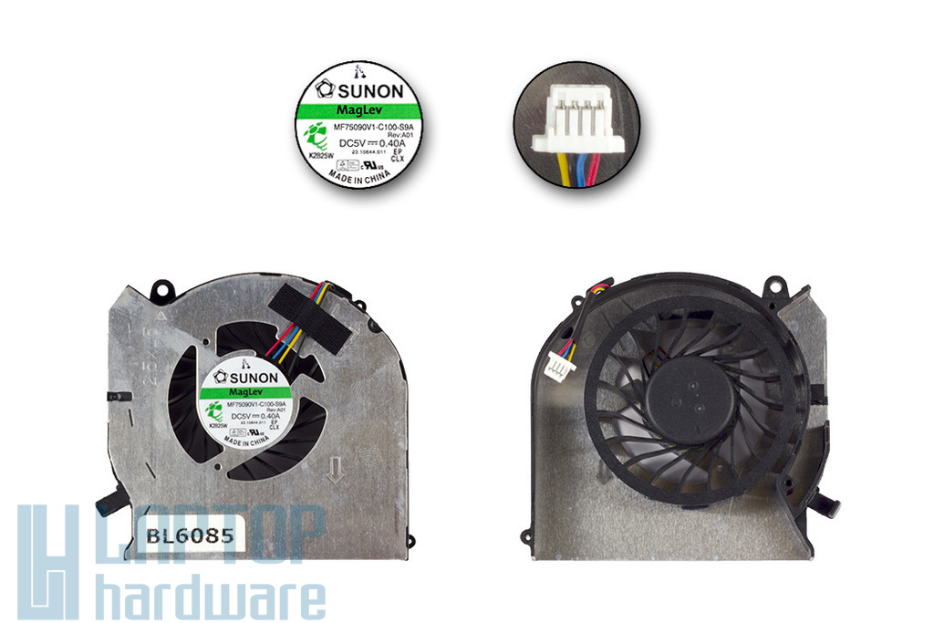 HP Pavilion DV6-7000, DV7-7000, Envy DV6-7300, DV7-7300 gyári új laptop hűtő ventilátor, MF75090V1-C100-S9A