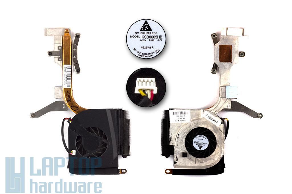HP Pavilion DV6000 használt komplett laptop hűtő ventilátor egység (434985-001)
