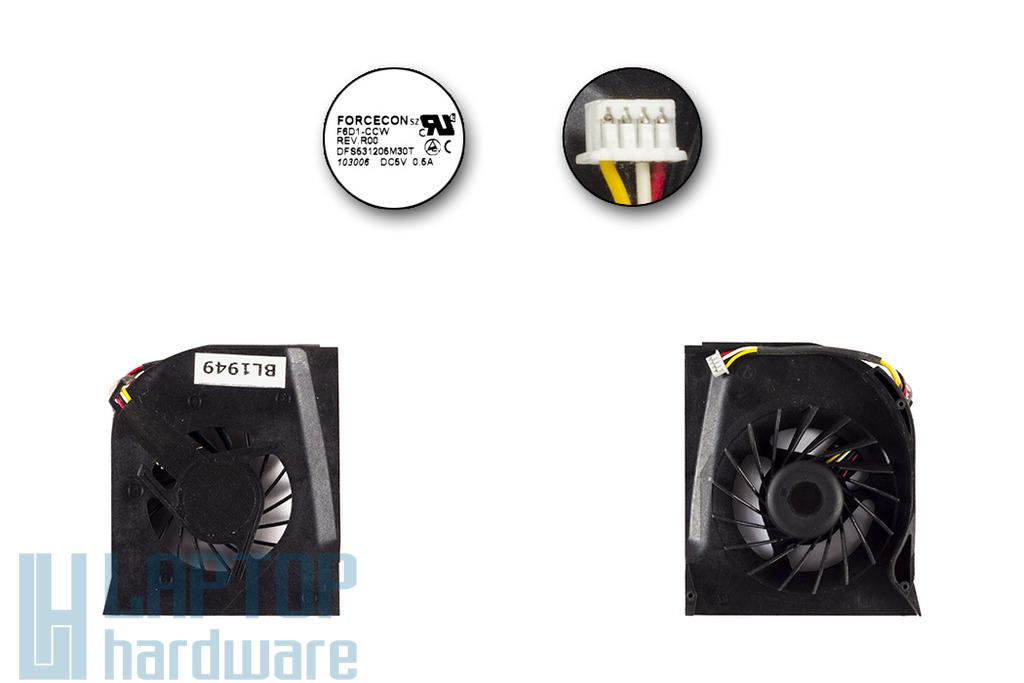 HP Pavilion dv6000 sorozat laptop hűtő ventilátor 2 levegő nyílásos, DFS531205M30T