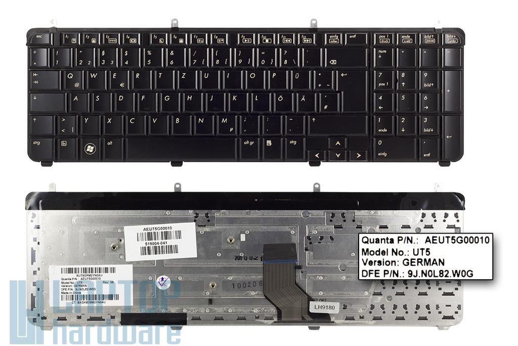 HP Pavilion dv7-2000, dv7-3000 gyári új német laptop billentyűzet (519265-041)