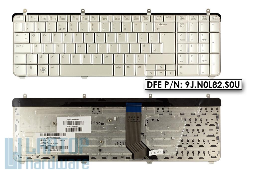 HP Pavilion dv7-2000, dv7-3000 gyári új UK angol fehér laptop billentyűzet (570140-031)