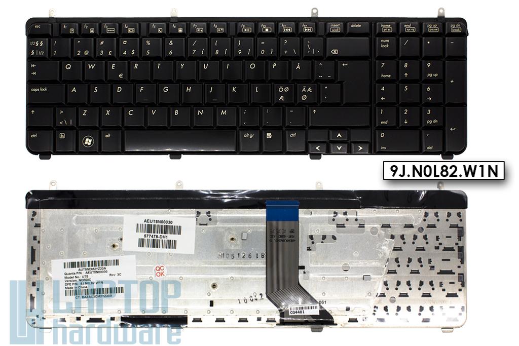 HP Pavilion dv7-2000, dv7-3000 gyári új norvég fényes laptop billentyűzet (577478-DH1, AEUT5N00030)