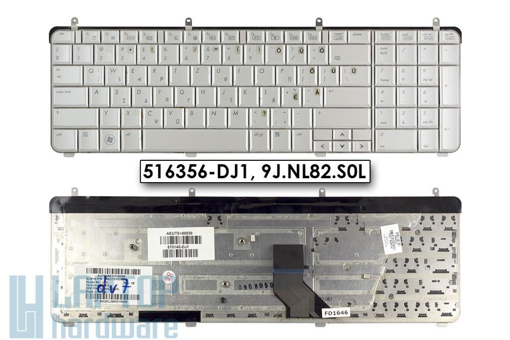 HP Pavilion dv7-2000, dv7-3000 használt US angol(magyarított) fehér laptop billentyűzet (516356-DJ1)