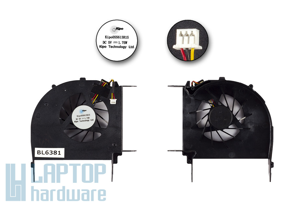 HP Pavilion DV7-2000 gyári új hűtő ventilátor, 055613R1S