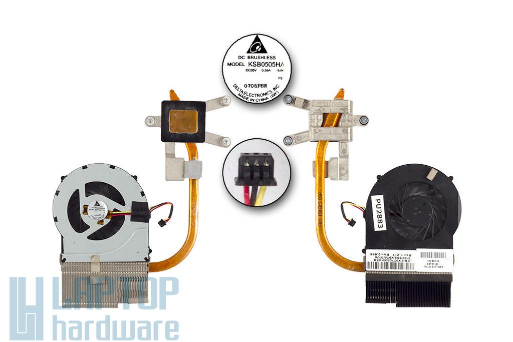 HP Pavilion DV7-4000, DV6-3000 használt laptop hűtő ventilátor egység, 622028-001