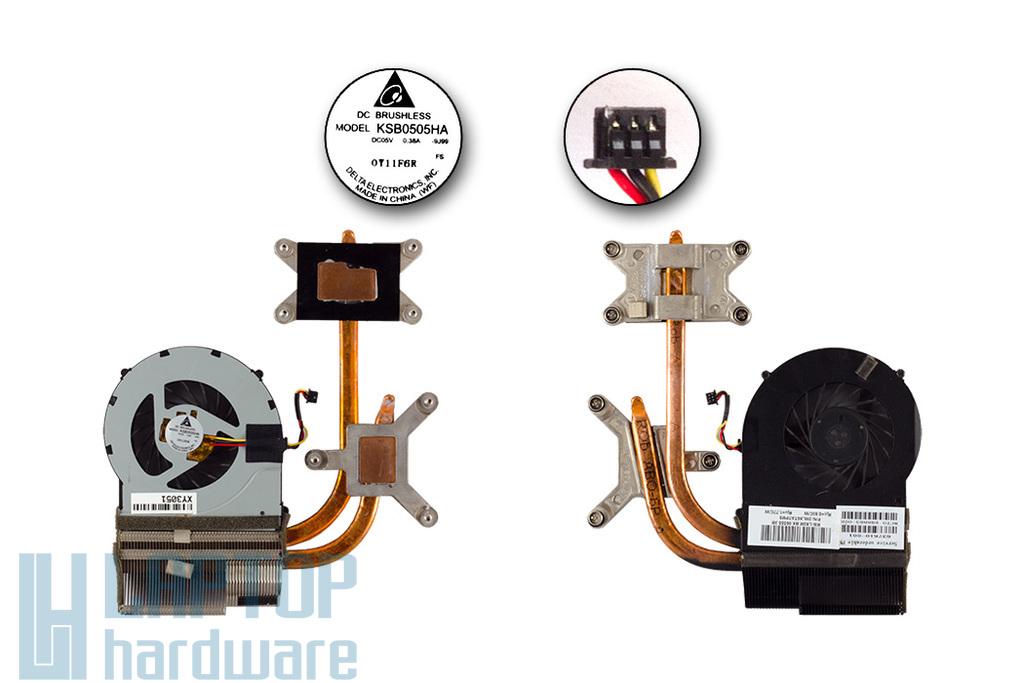 HP Pavilion DV7-4000, DV6-3000 (Intel CPU) használt laptop hűtő ventilátor egység, 637610-001