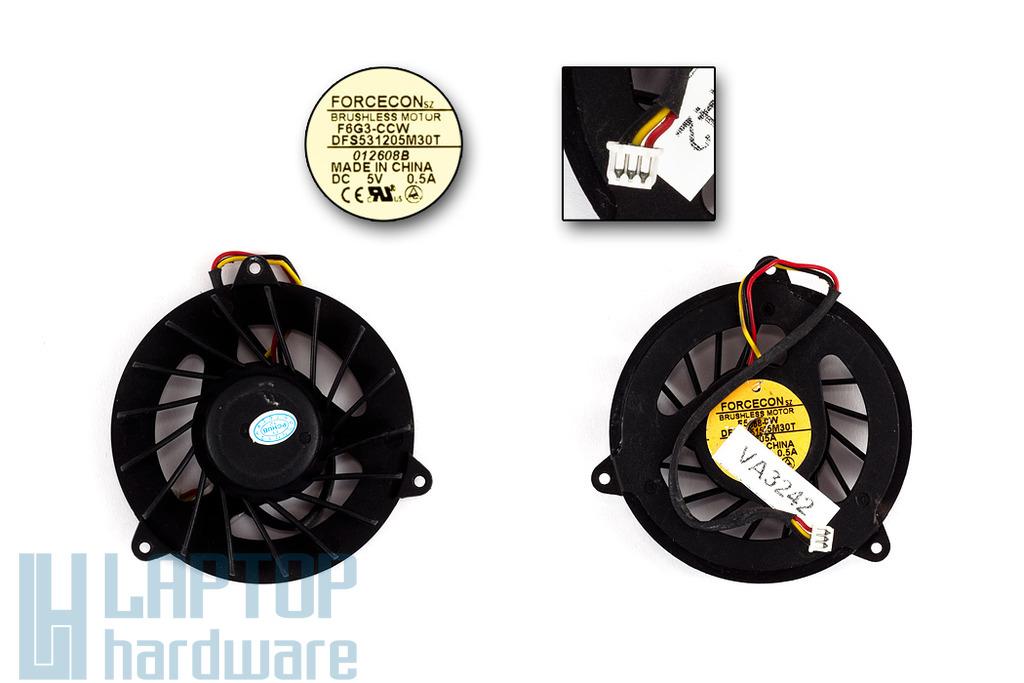HP Pavilion dv8000, dv8100, dv8200 használt laptop hűtő ventilátor (DFB551505M30T)