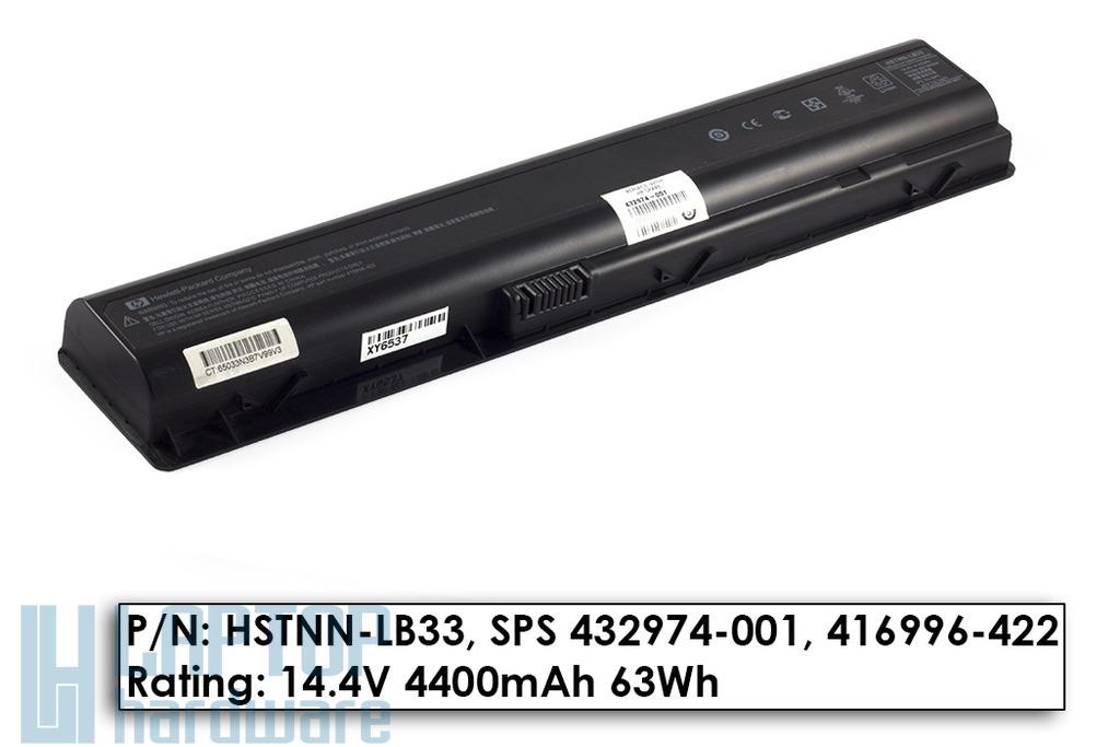 HP Pavilion dv9000 használt 45%-os 8 cellás laptop akku/akkumulátor (HSTNN-LB33)