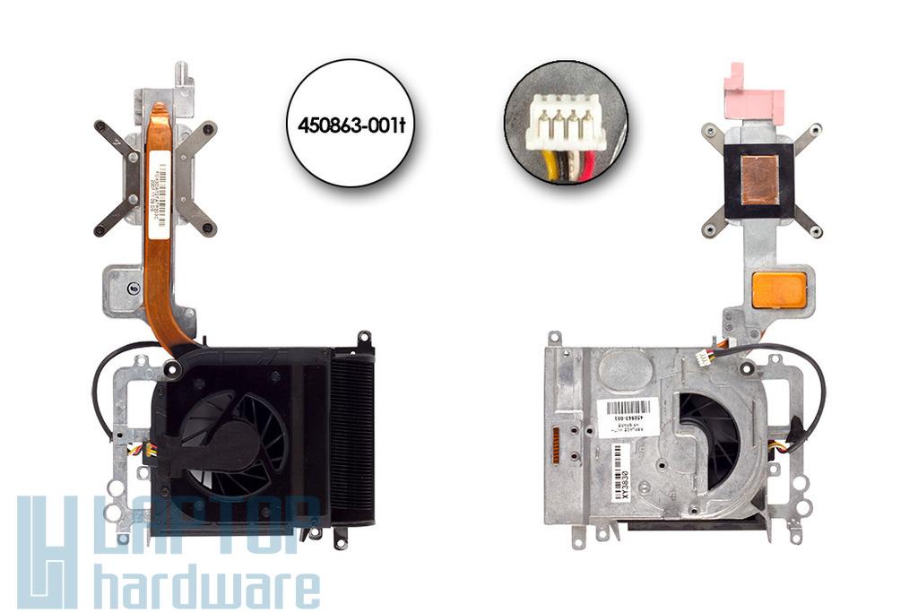 HP Pavilion dv9000 használt komplett laptop hűtő ventilátor egység (UMA alaplaphoz) (SPS 450863-001)