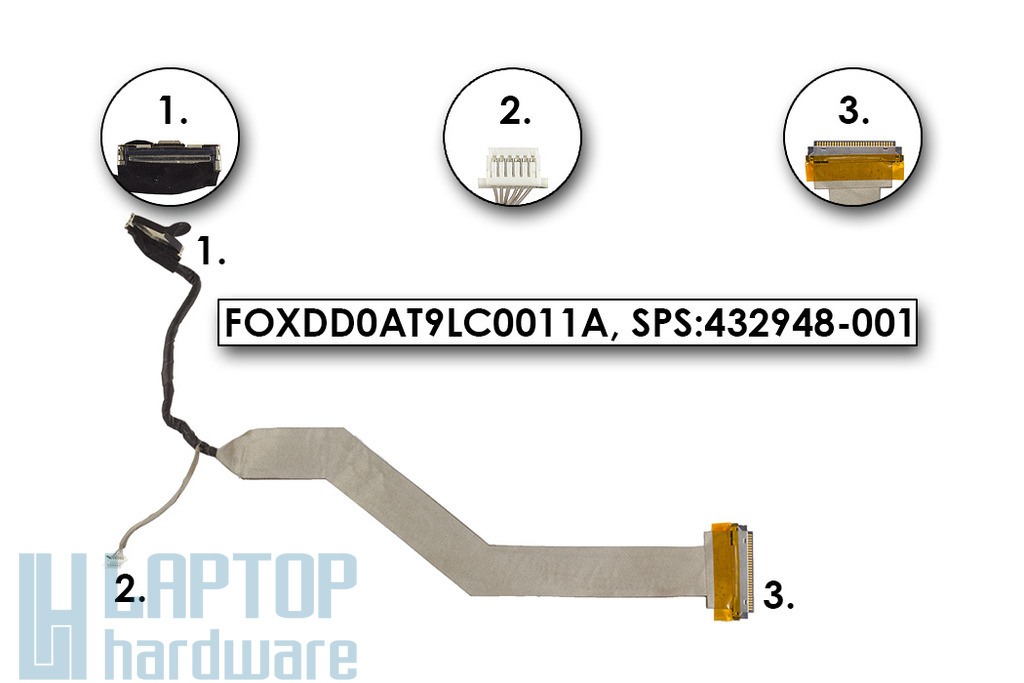 HP Pavilion DV9000 laptophoz használt kijelző kábel (432948-001)
