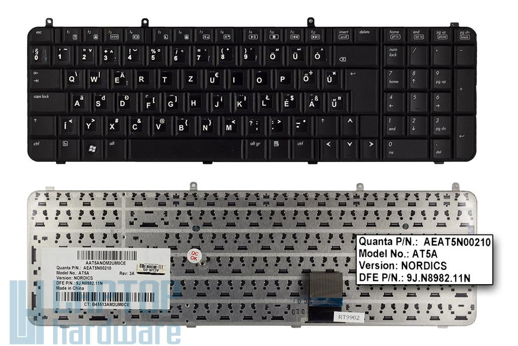HP Pavilion DV9000 sorozat használt magyarított laptop billentyűzet (SPS 441541-DH1)