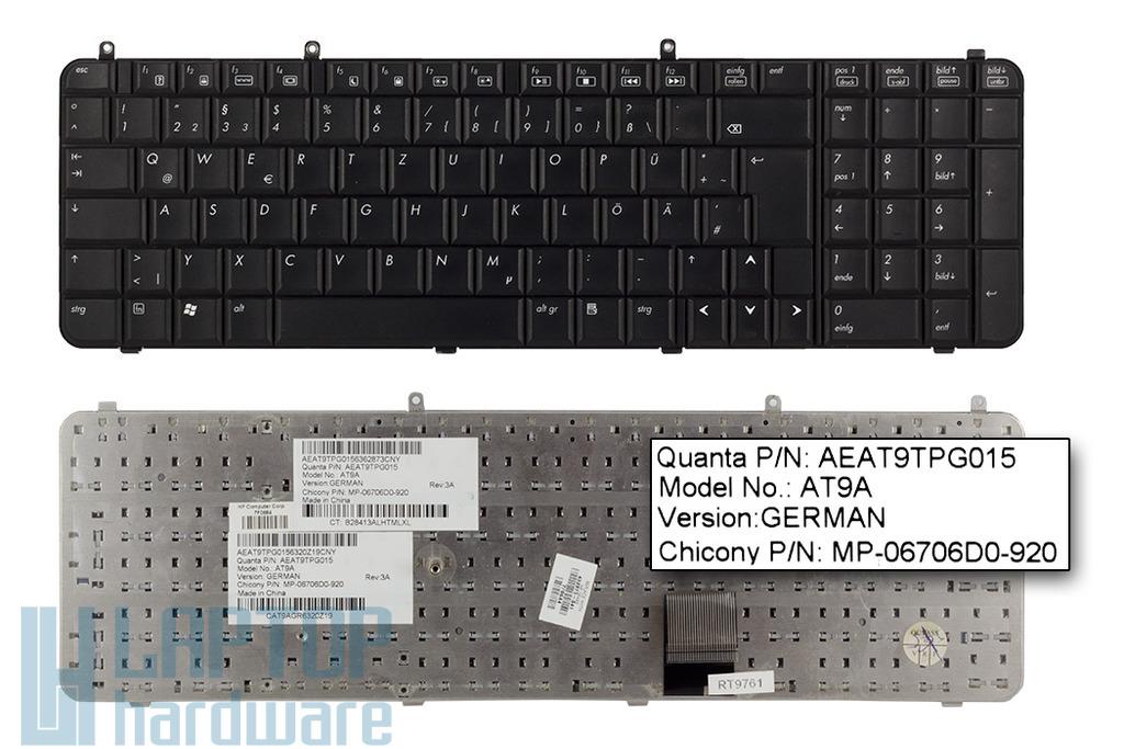 HP Pavilion DV9000 sorozat használt német laptop billentyűzet (432976-041)